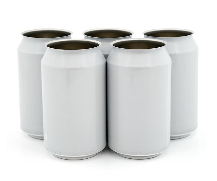 330 ml hvit ølboks - 216 stk
